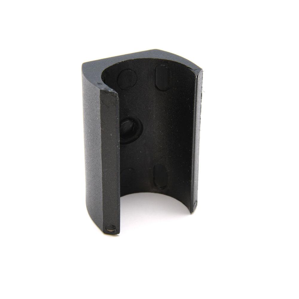 Klemmschalengleiter PP Ø 20-22mm schwarz Zapfen Klemmgleiter Freischwinger Stuhl