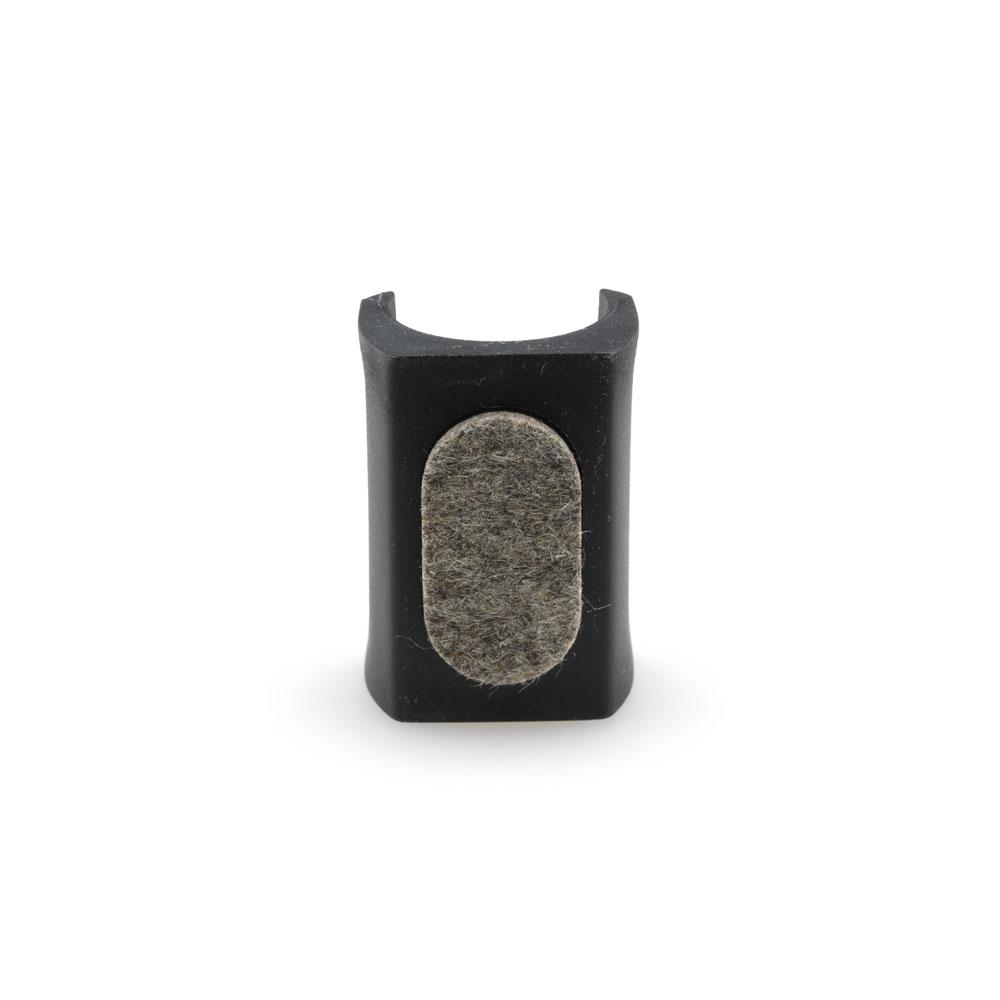 Klemmschalengleiter PP Ø 23-25mm schwarz Zapfen Stuhl Schwingstuhl Freischwinger