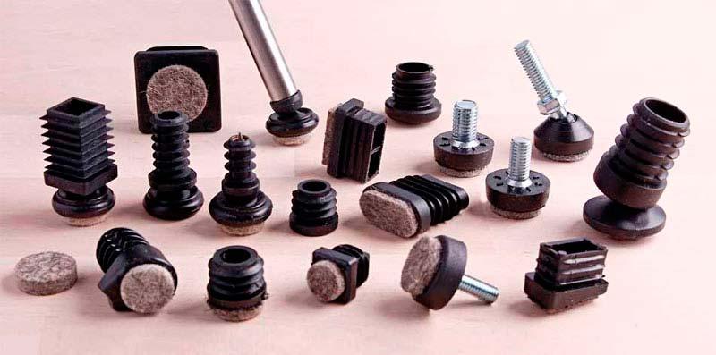 Möbelgleiter Sortiment für Stahlrohr Stühle