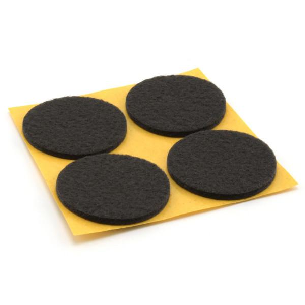 Filzgleiter schwarz rund 4 Stück