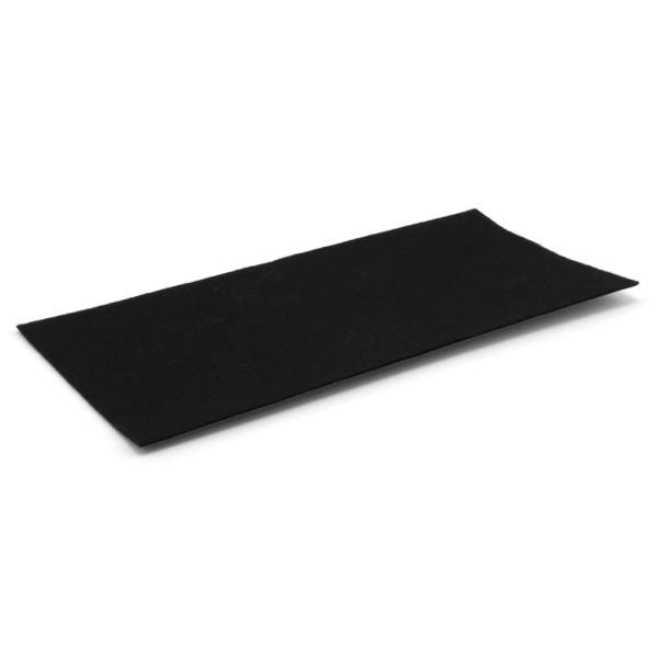 Filzzuschnitt schwarz 100 x 200 mm Softfilz