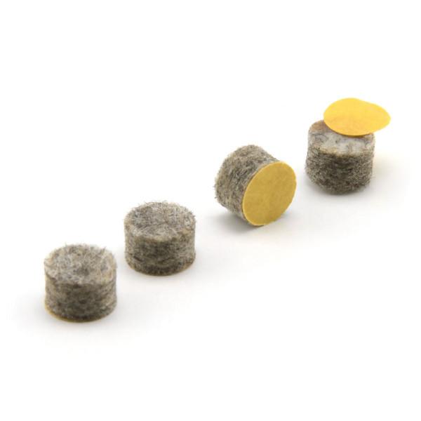Filzgleiter grau rund 8 mm dick