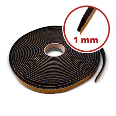 Filzband selbstklebend schwarz 1 mm