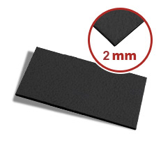 Filzzuschnitt 2 mm in schwarz