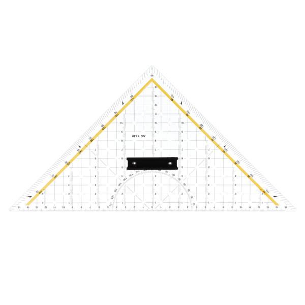 SCHNEIDDREIECK 32,5 cm mit Stahlkante & Griff