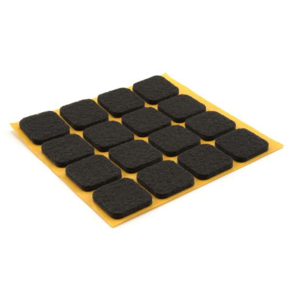 Filzgleiter quadratisch schwarz 16 Stück