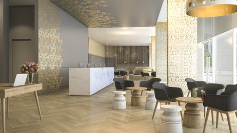 Hotel-Stuhl-Lobby