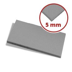 Filzzuschnitt grau 5 mm