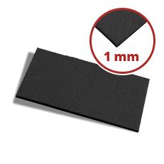 Filzzuschnitt schwarz 1 mm dick