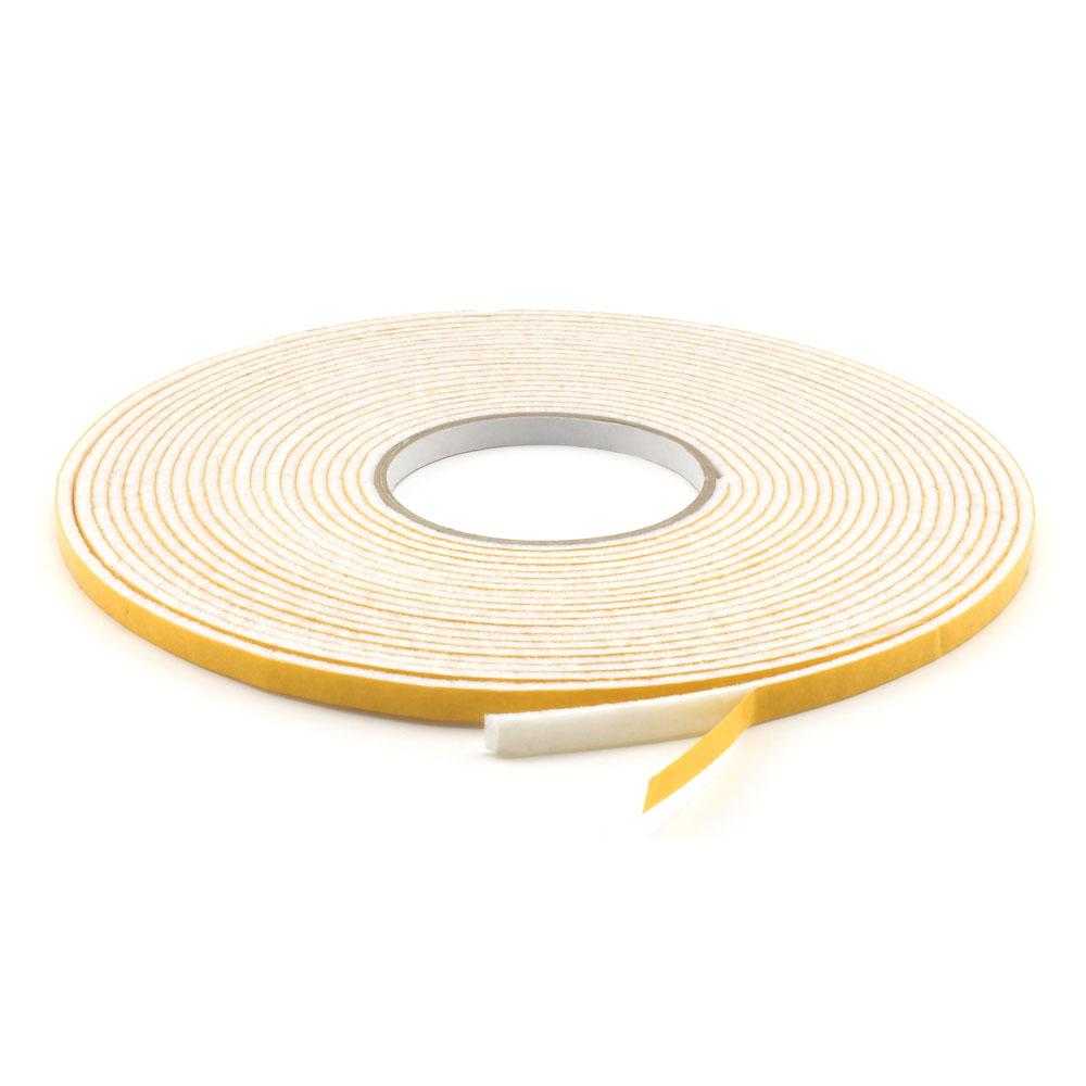 Filzstreifen weiss Breite 70 mm Filzband selbstklebend 3 mm Filzklebeband
