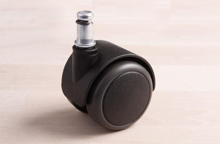 Fliesen Parkett Stuhlrolle Hartbodenrolle 11 mm Stift ohne Bremse für Laminat
