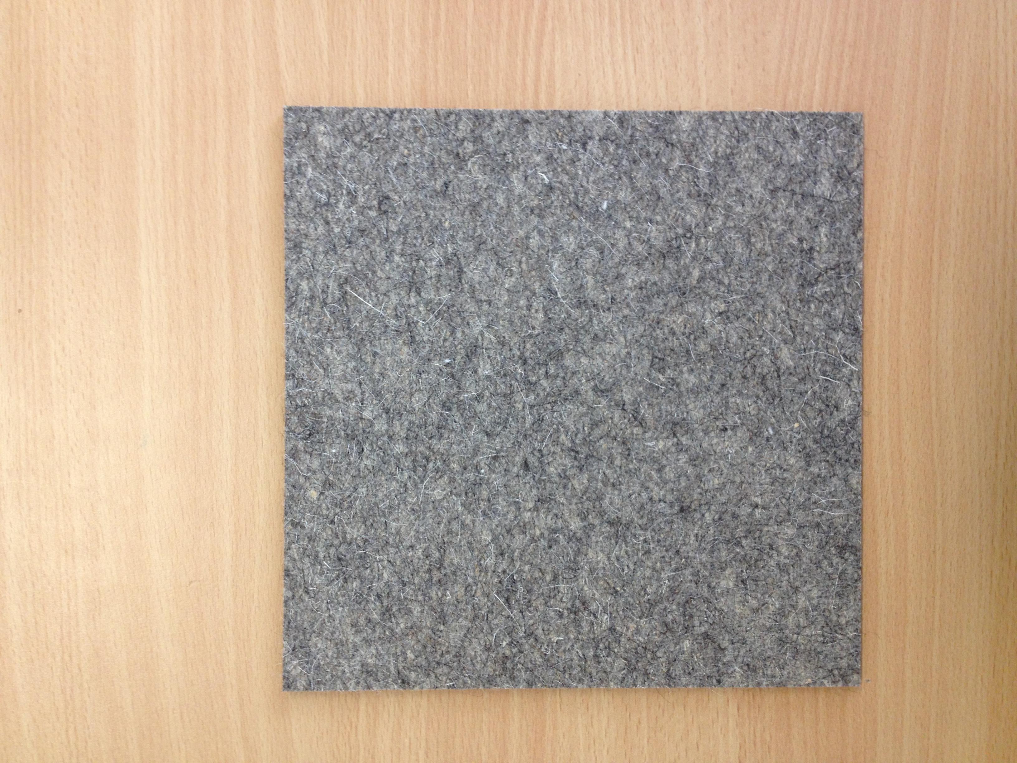Selbstklebender Filzzuschnitt Aus 8 Mm Dickem Wollfilz Grau