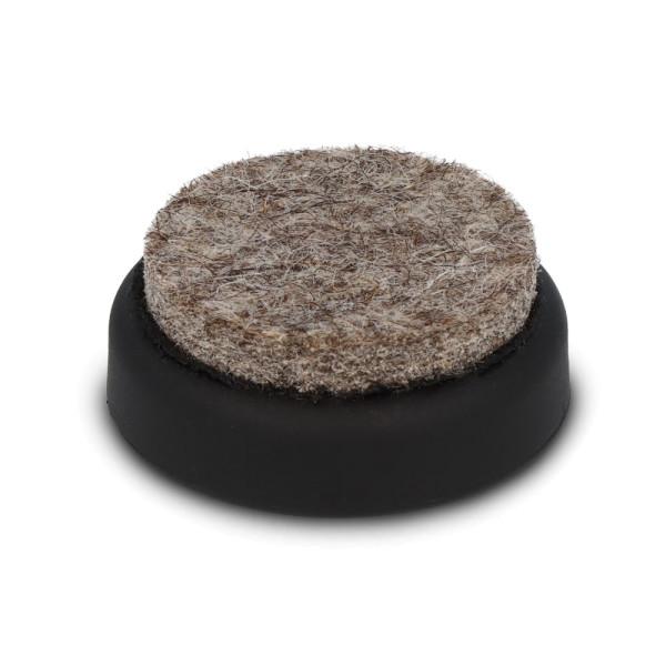 Stuhlkappe mit Filz Ø 25 mm, schwarz