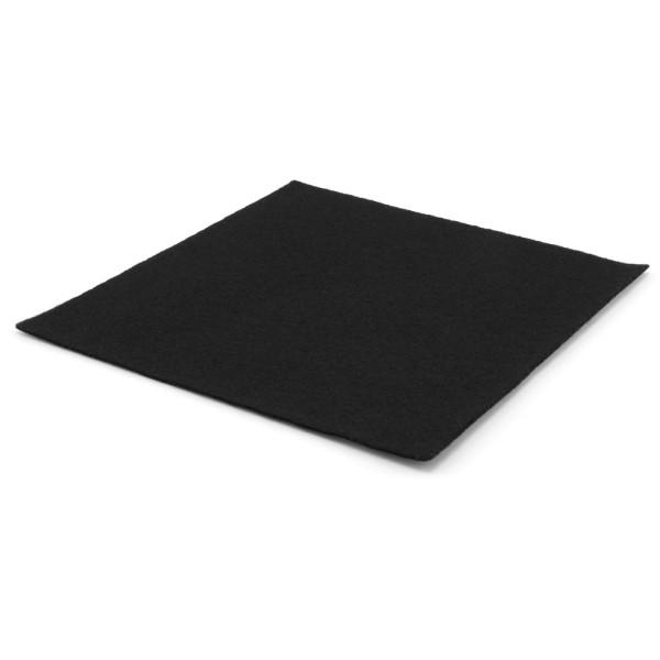 Filzzuschnitt schwarz 2 mm stark