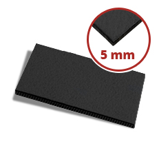 Filzzuschnitt schwarz 5 mm