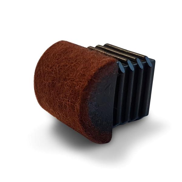 Stuhlstopfen Filz für Innen-Ø: 15,3-17,0x17,0-18,5 mm, 0-30°