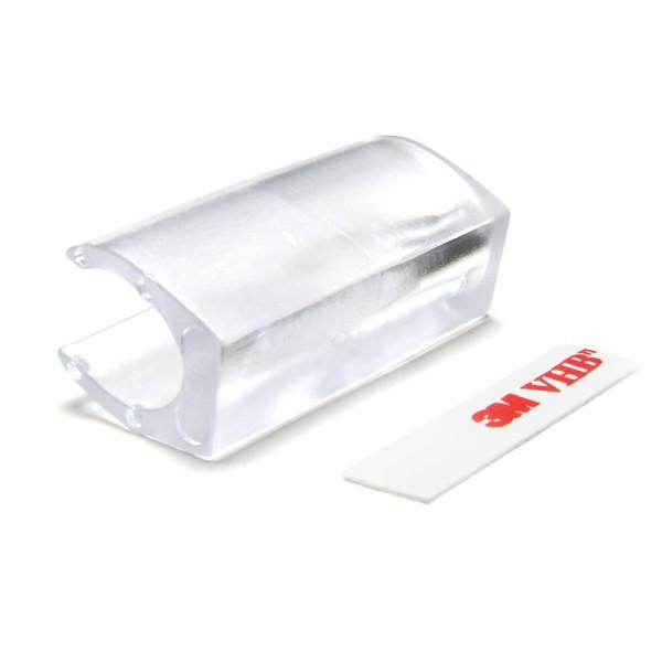Klemmgleiter Kunststoff für Ovalrohr transparent