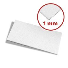 Filzzuschnitt weiß 1 mm dick