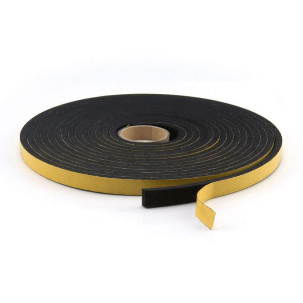 Filzband schwarz aus Wollfilz